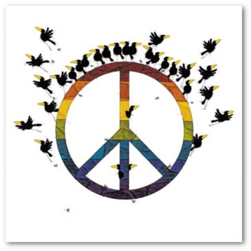 """Kunstdruck """"Peace"""" von Michael Ferner"""