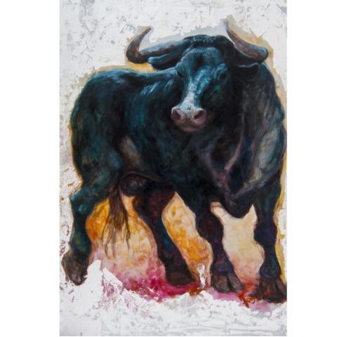 """Print&Painting """"Stier"""" von Jo Becker"""