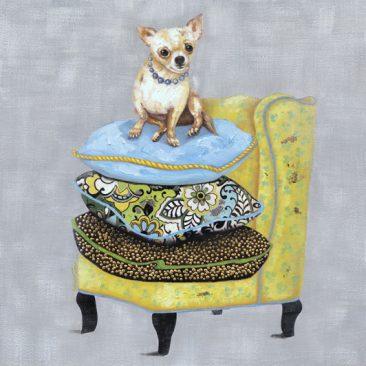 SABODesign, Print&Painting, Chihuahua, 90 x 90