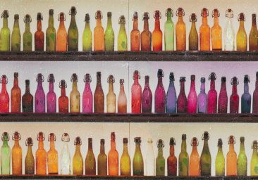 SABODesign, Print&Painting, Flaschen rot, 70 x 100