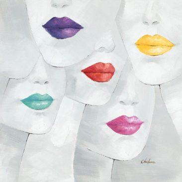 SABODesign, Print&Painting, Lippen, 90 x 90