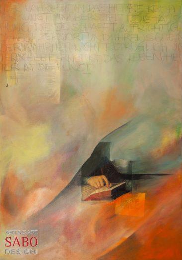 """SABODesign, Annette Palic """"Wallenstein"""", 70 x 100, 760,- €"""